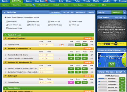Coral Sports Live Betting