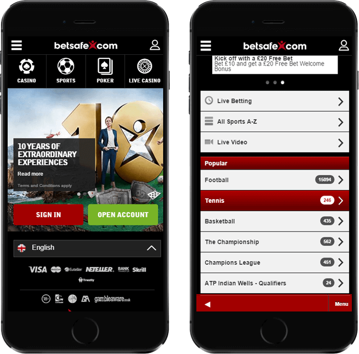 Betsafe Mobile Betting
