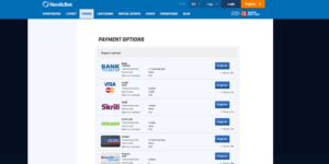 NordicBet Payment Options