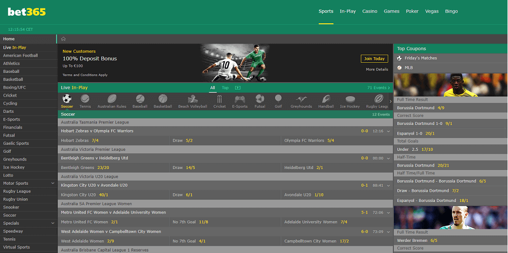 Beginner Betting Site Bet365