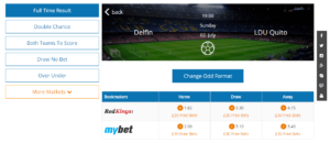 Detailed Overview Bet Slip