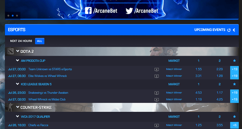 Arcanebet Tournament Schedule