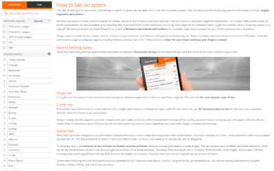 Betsson How To Bet On Sports