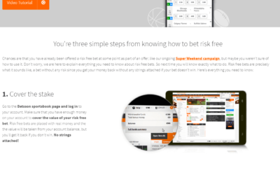 Betsson Risk Free Bet Guide