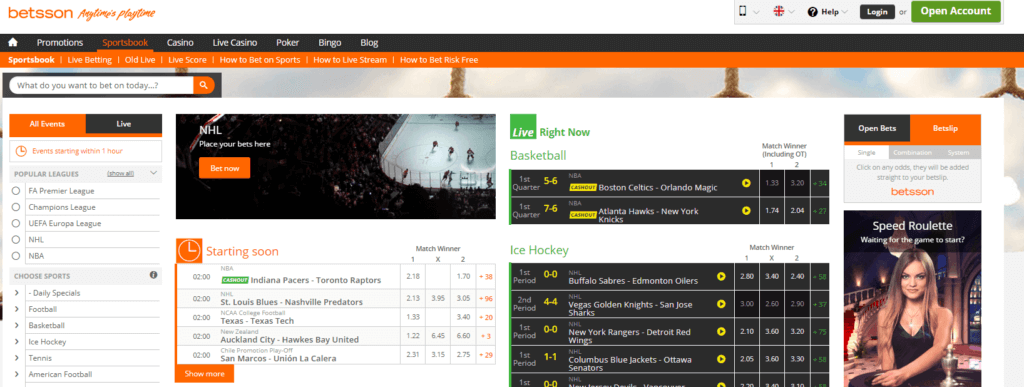Betsson Top 1 Sign Up Step 1