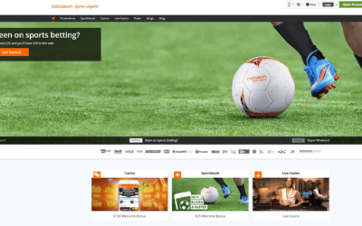 Betsson Welcome Page And Sign Up Offer