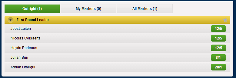 Coral First Round Betting