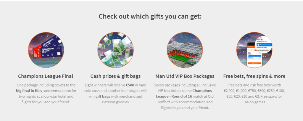 Betsson Sportsbook GIfts