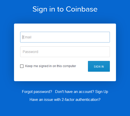 Coinbase Sign In
