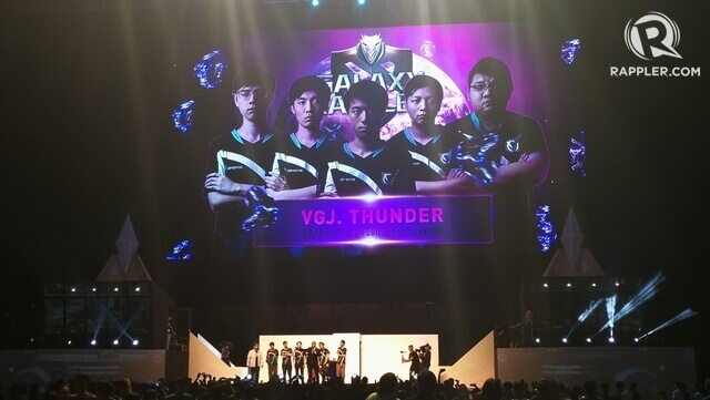 VGJ.Thunder are the champions of Galaxy Battles II