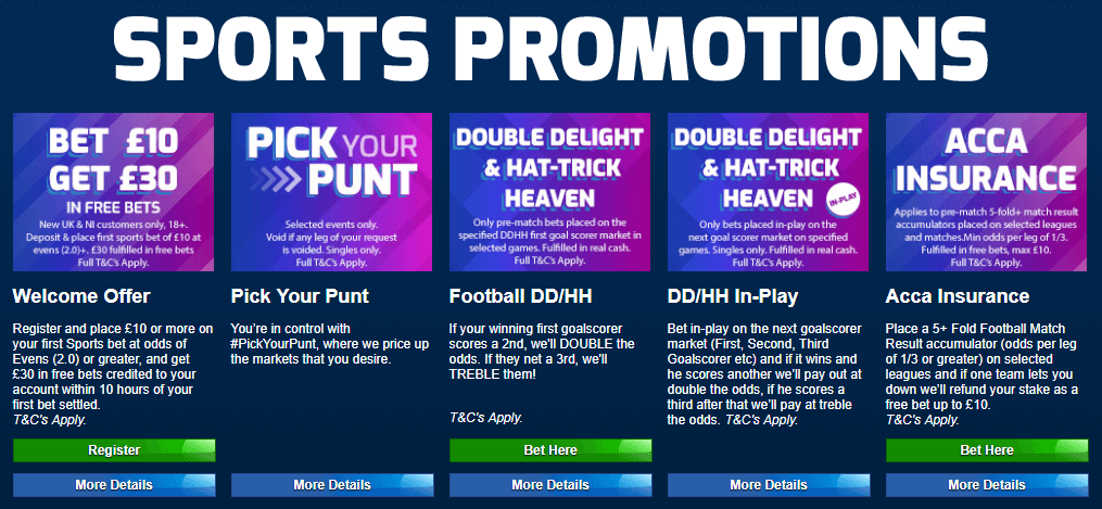 Betfred Promotions Overview