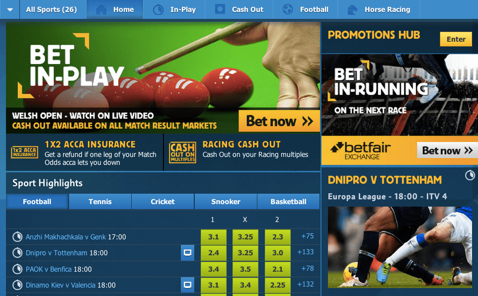 Betfair Sports Betting Mobile App