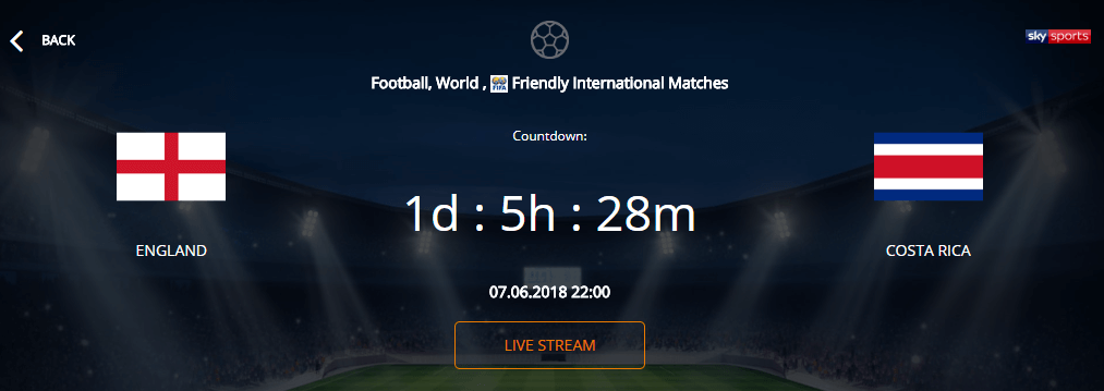 VIP Bet Single Match Overview Betting Odds