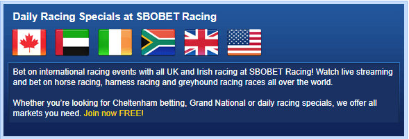 SBOBet Racing Betting