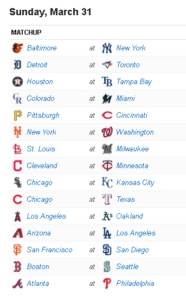 Mlb Schedule Today